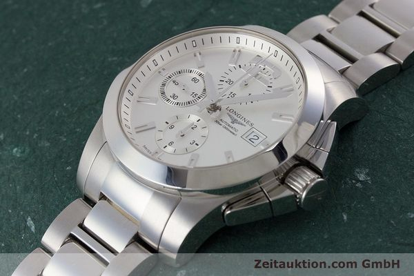 Used luxury watch Longines Conquest chronograph steel automatic Kal. L667.2 ETA 7750 Ref. L3.678.4  | 161230 01