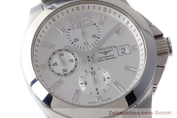 Used luxury watch Longines Conquest chronograph steel automatic Kal. L667.2 ETA 7750 Ref. L3.678.4  | 161230 02