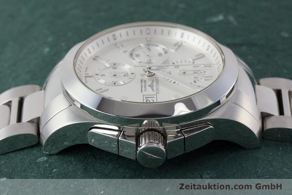 Used luxury watch Longines Conquest chronograph steel automatic Kal. L667.2 ETA 7750 Ref. L3.678.4  | 161230 05