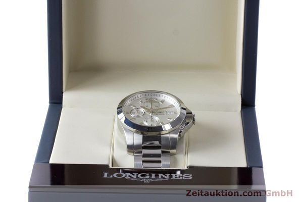 Used luxury watch Longines Conquest chronograph steel automatic Kal. L667.2 ETA 7750 Ref. L3.678.4  | 161230 07