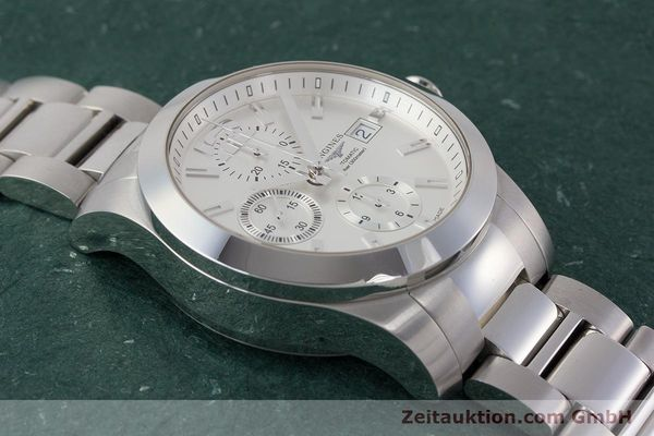 Used luxury watch Longines Conquest chronograph steel automatic Kal. L667.2 ETA 7750 Ref. L3.678.4  | 161230 17