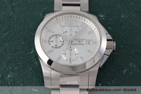 Used luxury watch Longines Conquest chronograph steel automatic Kal. L667.2 ETA 7750 Ref. L3.678.4  | 161230 18