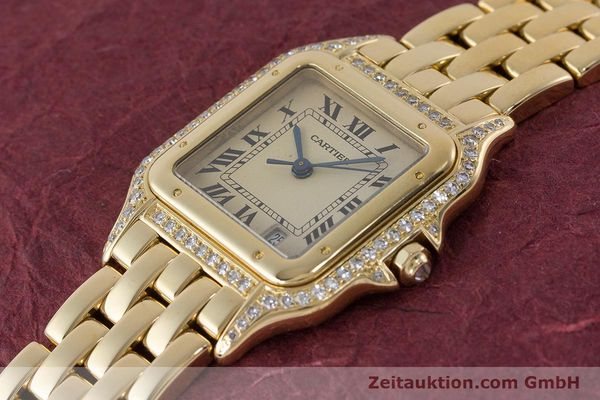 gebrauchte Luxusuhr Cartier Panthere 18k Gold Quarz  | 161239 01