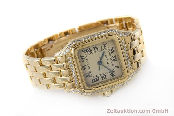 gebrauchte Luxusuhr Cartier Panthere 18k Gold Quarz  | 161239 03
