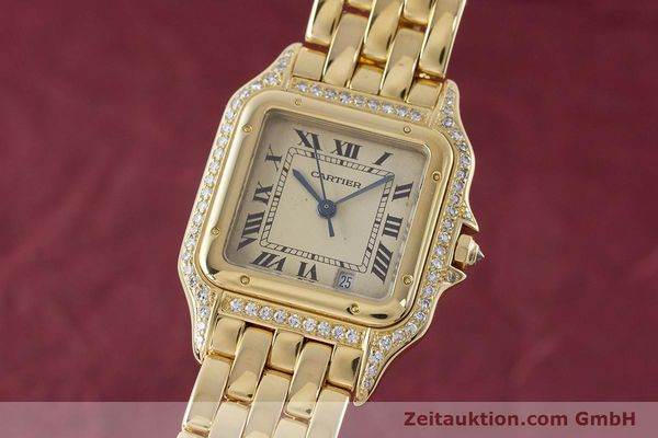 gebrauchte Luxusuhr Cartier Panthere 18k Gold Quarz  | 161239 04