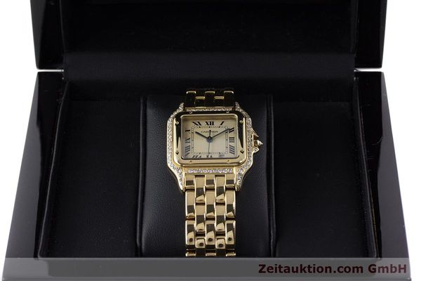 gebrauchte Luxusuhr Cartier Panthere 18k Gold Quarz  | 161239 07