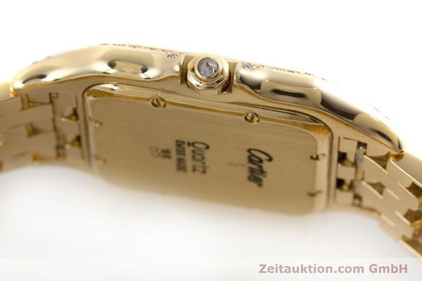 gebrauchte Luxusuhr Cartier Panthere 18k Gold Quarz  | 161239 08