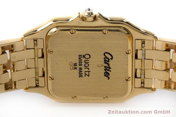 gebrauchte Luxusuhr Cartier Panthere 18k Gold Quarz  | 161239 09