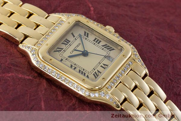 gebrauchte Luxusuhr Cartier Panthere 18k Gold Quarz  | 161239 13