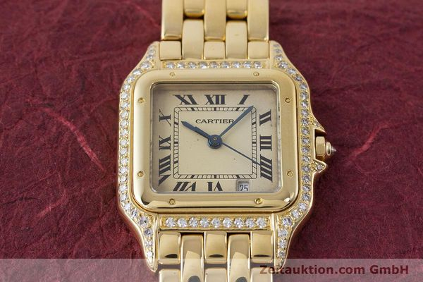 Used luxury watch Cartier Panthere 18 ct gold quartz  | 161239 14