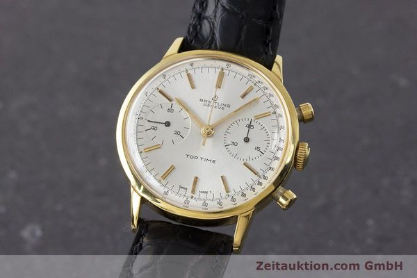 Used luxury watch Breitling Top Time chronograph gold-plated manual winding Kal. Venus 188 Ref. 2000 VINTAGE  | 161247 04