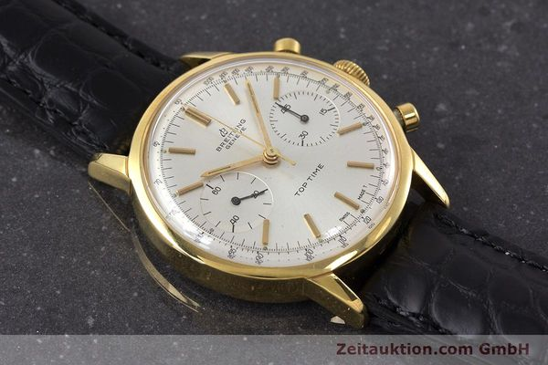 Used luxury watch Breitling Top Time chronograph gold-plated manual winding Kal. Venus 188 Ref. 2000 VINTAGE  | 161247 13