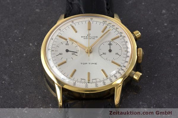 Used luxury watch Breitling Top Time chronograph gold-plated manual winding Kal. Venus 188 Ref. 2000 VINTAGE  | 161247 14