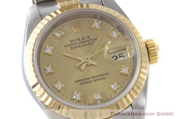 Used luxury watch Rolex Lady Datejust steel / gold automatic Kal. 2135 Ref. 69173  | 161258 02
