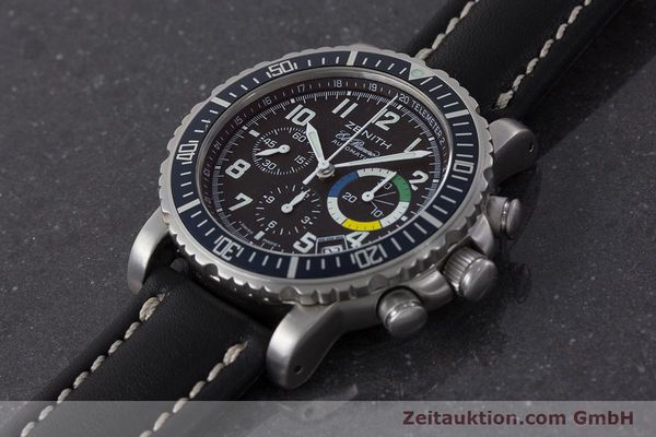 Used luxury watch Zenith El Primero chronograph steel automatic Kal. 400 Ref. 01/02.0470.405  | 161261 01