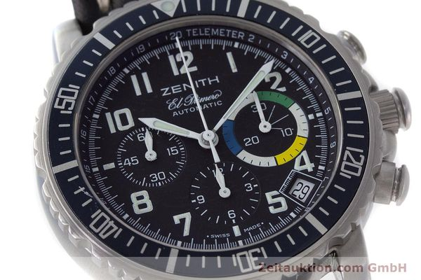 Used luxury watch Zenith El Primero chronograph steel automatic Kal. 400 Ref. 01/02.0470.405  | 161261 02