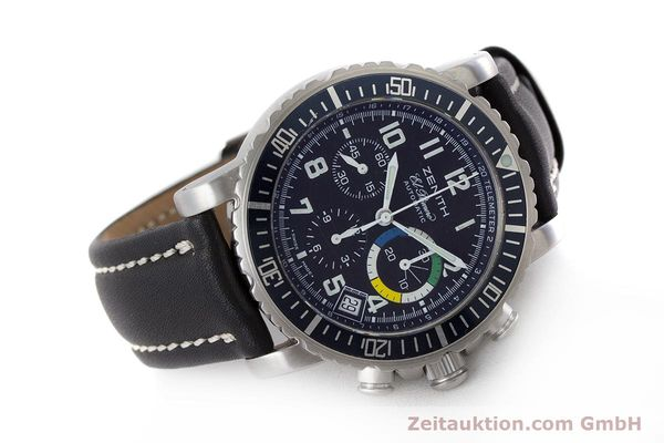Used luxury watch Zenith El Primero chronograph steel automatic Kal. 400 Ref. 01/02.0470.405  | 161261 03