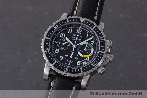 Used luxury watch Zenith El Primero chronograph steel automatic Kal. 400 Ref. 01/02.0470.405  | 161261 04
