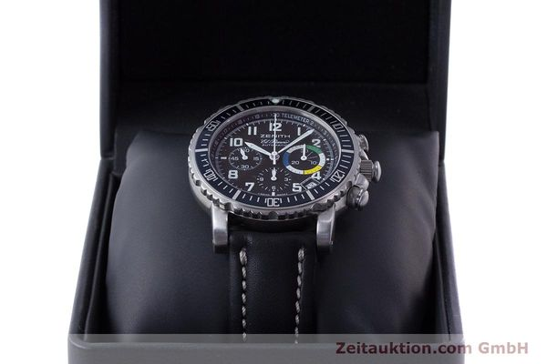 Used luxury watch Zenith El Primero chronograph steel automatic Kal. 400 Ref. 01/02.0470.405  | 161261 07