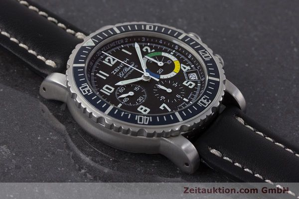 Used luxury watch Zenith El Primero chronograph steel automatic Kal. 400 Ref. 01/02.0470.405  | 161261 13