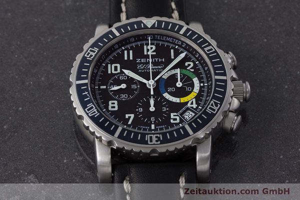 Used luxury watch Zenith El Primero chronograph steel automatic Kal. 400 Ref. 01/02.0470.405  | 161261 14