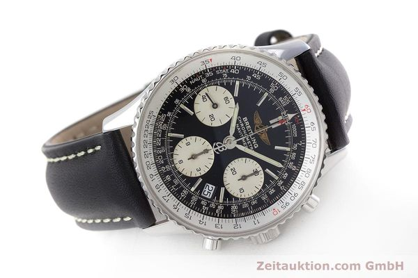 Used luxury watch Breitling Navitimer chronograph steel automatic Kal. B23 ETA 7753 Ref. A23322  | 161266 03