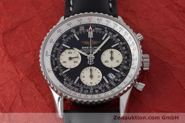 Used luxury watch Breitling Navitimer chronograph steel automatic Kal. B23 ETA 7753 Ref. A23322  | 161266 13