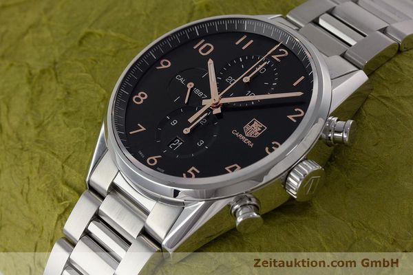 Used luxury watch Tag Heuer Carrera chronograph steel automatic Kal. 1887 Ref. CAR2014-2  | 161269 01
