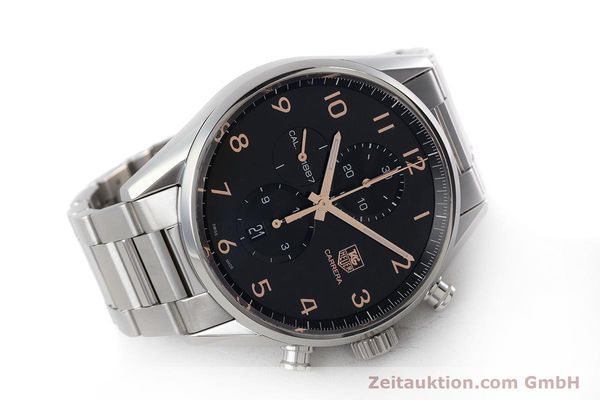 Used luxury watch Tag Heuer Carrera chronograph steel automatic Kal. 1887 Ref. CAR2014-2  | 161269 03