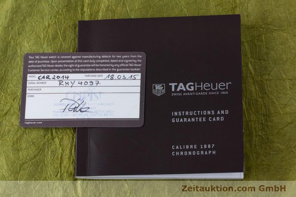 Used luxury watch Tag Heuer Carrera chronograph steel automatic Kal. 1887 Ref. CAR2014-2  | 161269 08