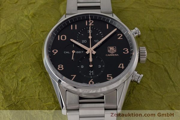 Used luxury watch Tag Heuer Carrera chronograph steel automatic Kal. 1887 Ref. CAR2014-2  | 161269 16