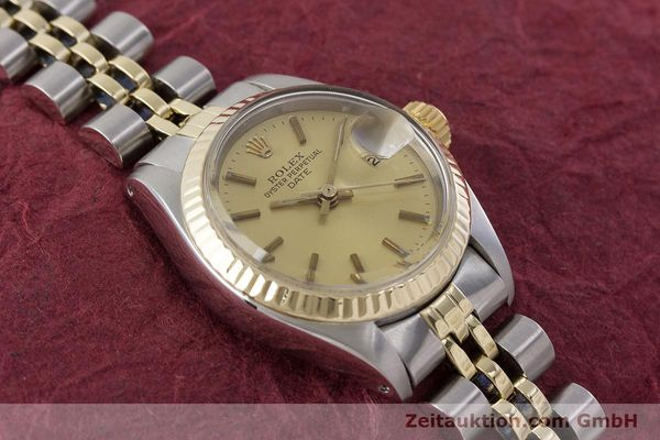 Used luxury watch Rolex Lady Date steel / gold automatic Kal. 2030 Ref. 6917  | 161275 15