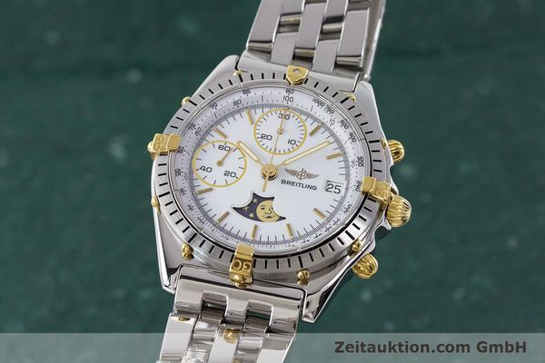 Used luxury watch Breitling Chronomat chronograph steel / gold automatic Kal. Val. 7758 Ref. 81950  | 161280 04