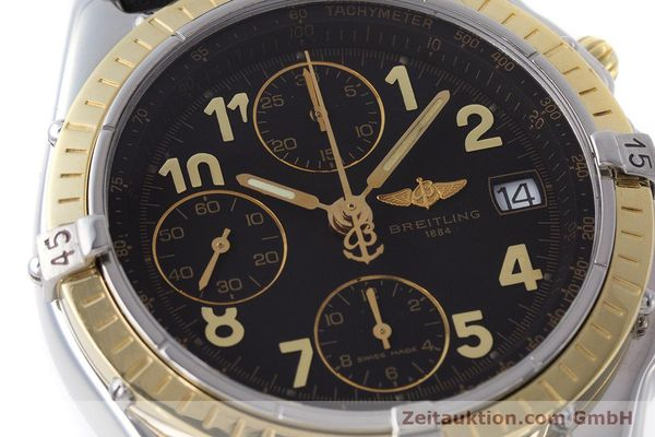 Used luxury watch Breitling Chronomat chronograph steel / gold automatic Kal. B13 ETA 7750 Ref. D13050.1  | 161285 02