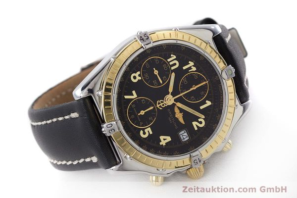 Used luxury watch Breitling Chronomat chronograph steel / gold automatic Kal. B13 ETA 7750 Ref. D13050.1  | 161285 03