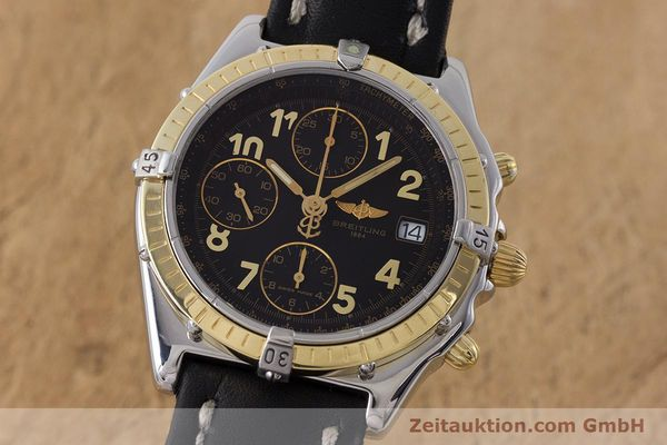 Used luxury watch Breitling Chronomat chronograph steel / gold automatic Kal. B13 ETA 7750 Ref. D13050.1  | 161285 04