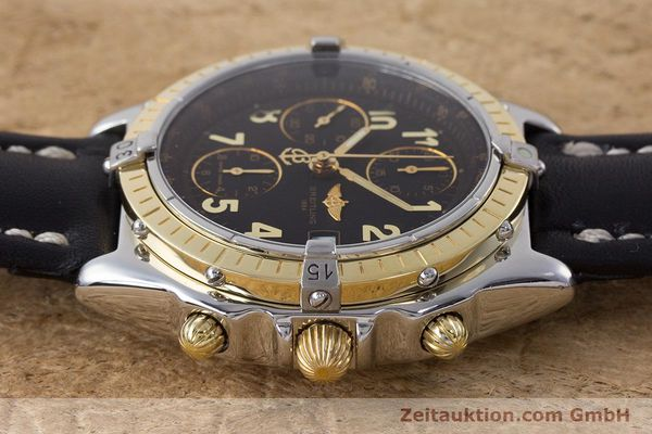 Used luxury watch Breitling Chronomat chronograph steel / gold automatic Kal. B13 ETA 7750 Ref. D13050.1  | 161285 05