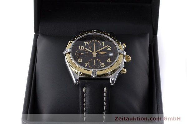 Used luxury watch Breitling Chronomat chronograph steel / gold automatic Kal. B13 ETA 7750 Ref. D13050.1  | 161285 07