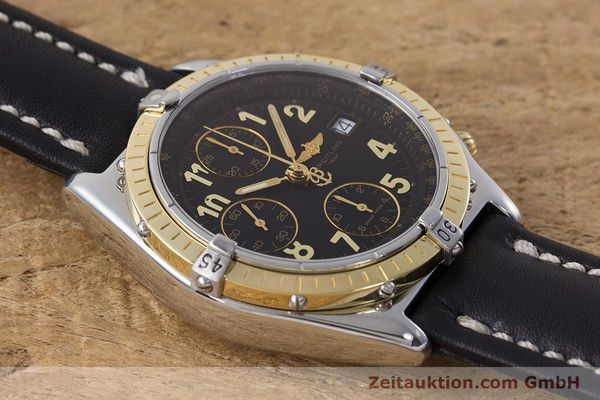 Used luxury watch Breitling Chronomat chronograph steel / gold automatic Kal. B13 ETA 7750 Ref. D13050.1  | 161285 14