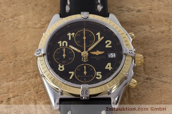 Used luxury watch Breitling Chronomat chronograph steel / gold automatic Kal. B13 ETA 7750 Ref. D13050.1  | 161285 15