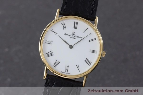 BAUME & MERCIER LADY 18K (0,750) RONDE GOLD DAMENUHR VP: 6300,- EURO [161288]