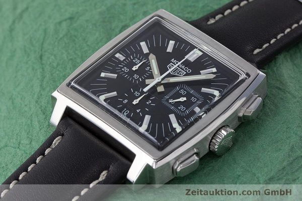 Used luxury watch Tag Heuer Monaco chronograph steel automatic Kal. ETA 2894-2 Ref. CS2111  | 161290 01