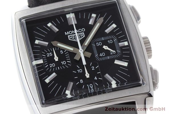 Used luxury watch Tag Heuer Monaco chronograph steel automatic Kal. ETA 2894-2 Ref. CS2111  | 161290 02