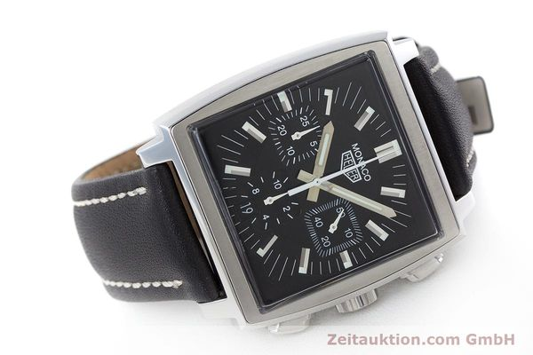 Used luxury watch Tag Heuer Monaco chronograph steel automatic Kal. ETA 2894-2 Ref. CS2111  | 161290 03