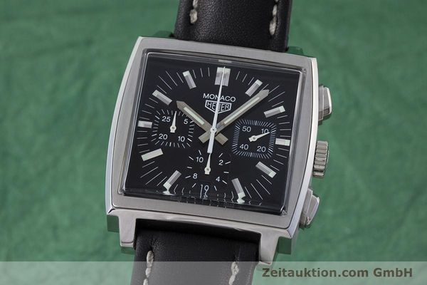 Used luxury watch Tag Heuer Monaco chronograph steel automatic Kal. ETA 2894-2 Ref. CS2111  | 161290 04