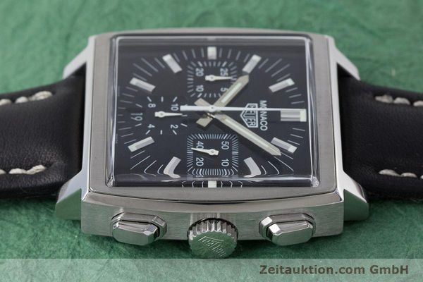 Used luxury watch Tag Heuer Monaco chronograph steel automatic Kal. ETA 2894-2 Ref. CS2111  | 161290 05