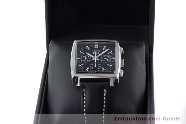 Used luxury watch Tag Heuer Monaco chronograph steel automatic Kal. ETA 2894-2 Ref. CS2111  | 161290 07