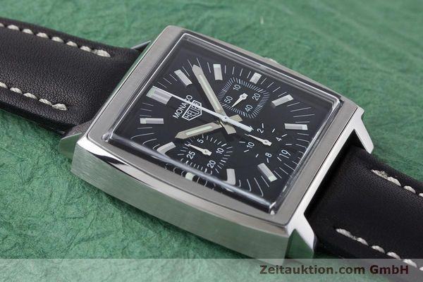 Used luxury watch Tag Heuer Monaco chronograph steel automatic Kal. ETA 2894-2 Ref. CS2111  | 161290 12