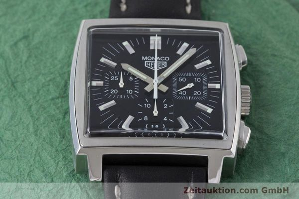 Used luxury watch Tag Heuer Monaco chronograph steel automatic Kal. ETA 2894-2 Ref. CS2111  | 161290 13