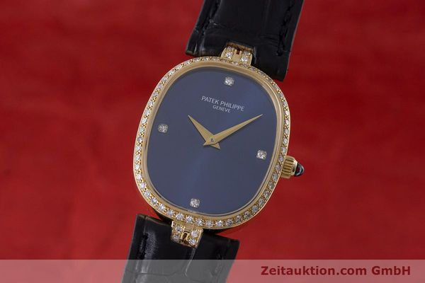 PATEK PHILIPPE LADY 18K GOLD ELLIPSE HANDAUFZUG DAMENUHR DIAMANTEN VP: 24790,- Euro [161295]
